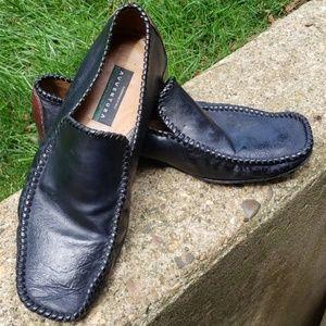 Men's Aldo Brue Avventura Black Leather Shoes